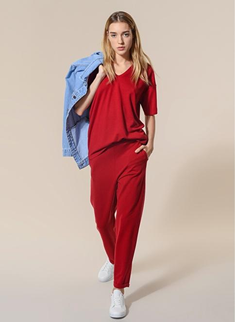 Agenda Örme Basic Pantolon Kırmızı